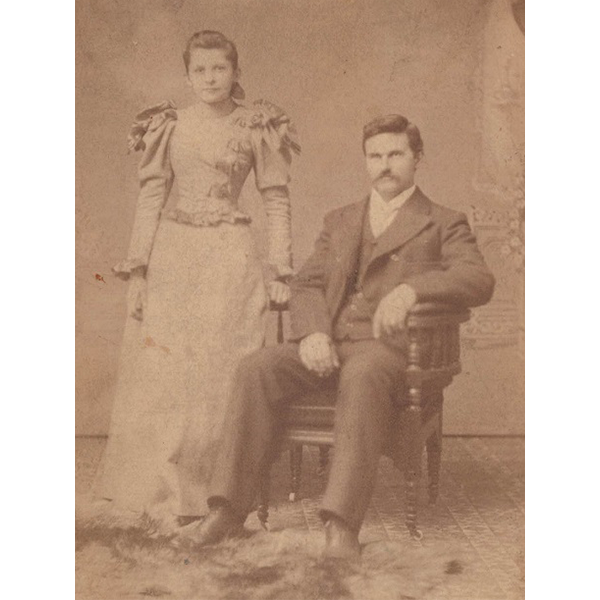 A well dressed young couple circa early 20th century